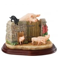 Venturing Out Pigs Figurine