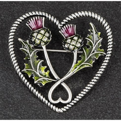 Equilibrium Vibrant Thistle Brooch