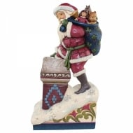 Victorian Santa In Chimney Figurine