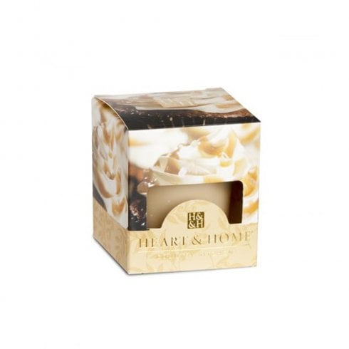 Heart & Home Votive Candle Caramel Cupcake