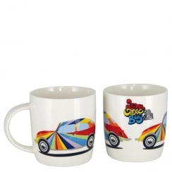 VW Beetle Mug Stripes