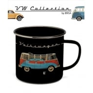 VW Enamel Mug - Bus & Beetle