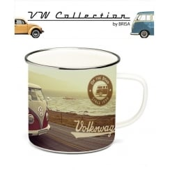 VW Enamel Mug - Highway design