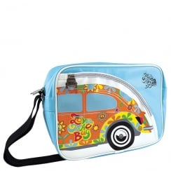 VW Shoulder Bag Beetle Flower Light Blue Medium
