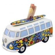 VW T1 Bus Money Bank - Flower design