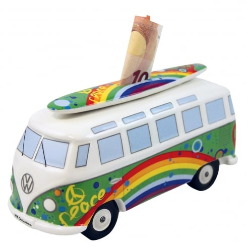 VW Collection VW T1 Bus Money Bank - Peace design