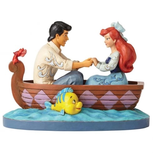 Disney Traditions Waiting For A Kiss Ariel & Prince Eric Figurine