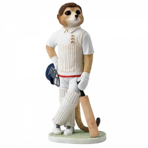 Magnificent Meerkats Waiting To Bat Meerkat Figurine
