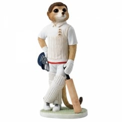 Waiting To Bat Meerkat Figurine