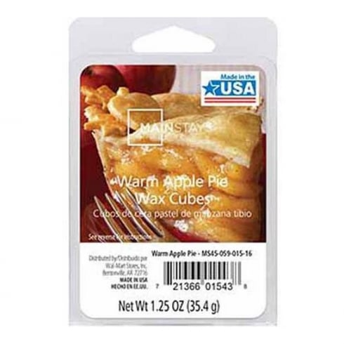 Mainstays Warm Apple Pie Scented Wax Cube Melts