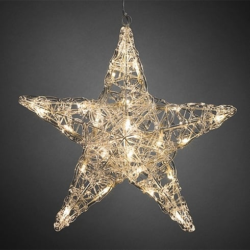 Konstsmide Warm White Acrylic 24 LED Christmas Hanging Star