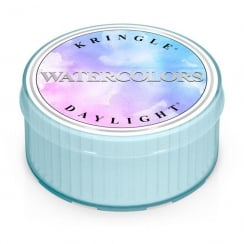 Watercolors Daylight Candle