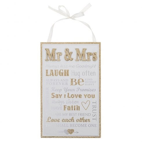 Shudehill Giftware Wedded Bliss Rules Plaque