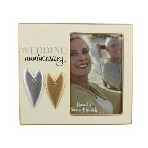 Wendy Jones-Blackett Wedding Anniversary 4 x 6 Photo Frame