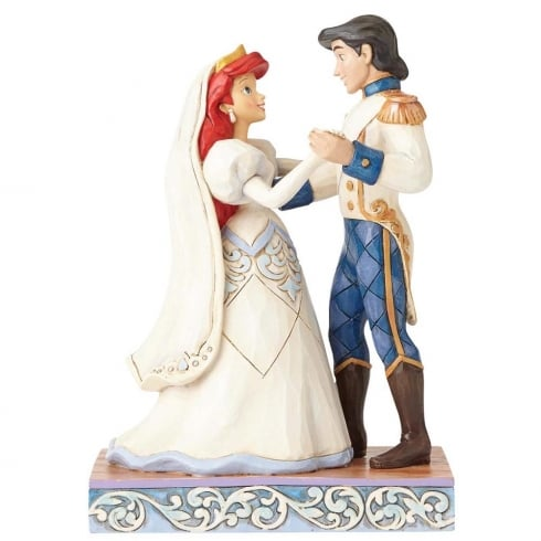 Disney Traditions Wedding Bliss Ariel & Prince Eric Figurine