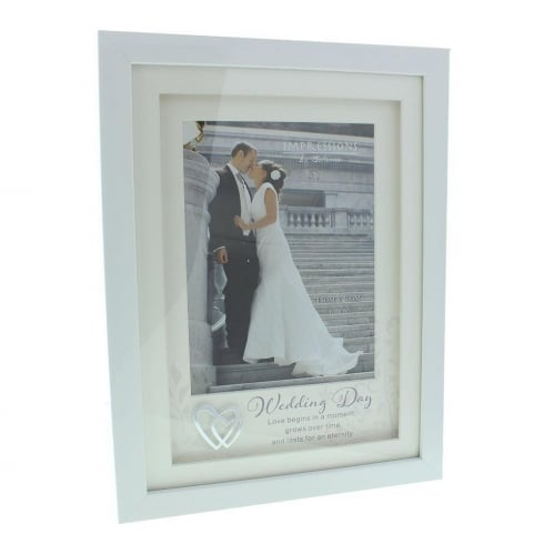 Juliana Wedding Day 6 x 8 White Photo Frame WG61568