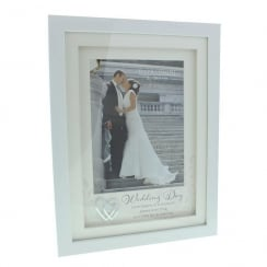 Wedding Day 6 x 8 White Photo Frame
