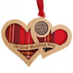 Wedding Day Hearts Lucky Sixpence