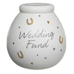 Wedding Fund Ceramic Money Pot