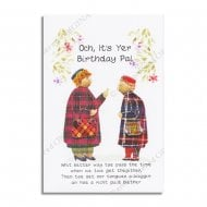 Wee Blether Scottish Birthday Card