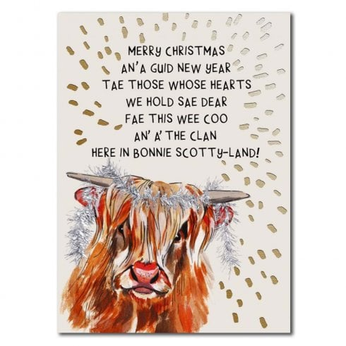 Embroidered Originals Wee Coo Christmas Card