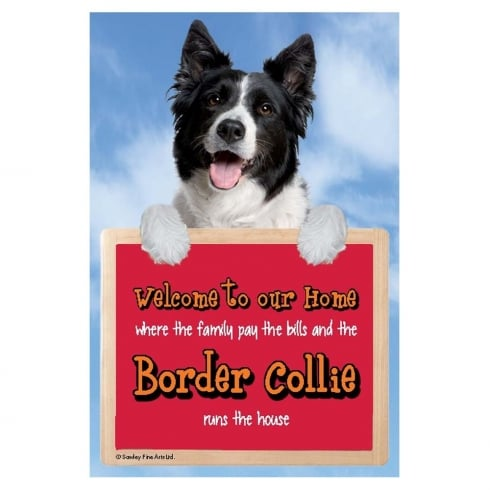 Faithful Friends Collectables Welcome 3D Hang-Up Border Collie 2
