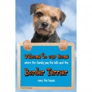 Welcome 3D Hang-Up Border Terrier