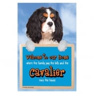 Welcome 3D Hang-Up Cavalier (Tri-Colour)