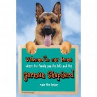 Welcome 3D Hang-Up German Shepherd
