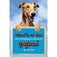Welcome 3D Hang-Up Greyhound
