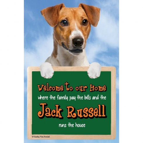 Faithful Friends Collectables Welcome 3D Hang-Up Jack Russell