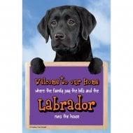 Welcome 3D Hang-Up Labrador (Black)