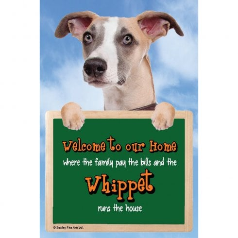 Faithful Friends Collectables Welcome 3D Hang-Up Whippet