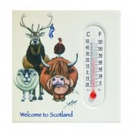 Welcome To Scotland Magnet & Thermometer