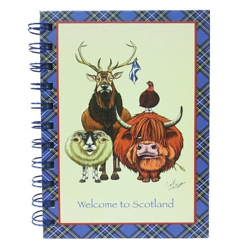 D & C Welcome To Scotland Notebook