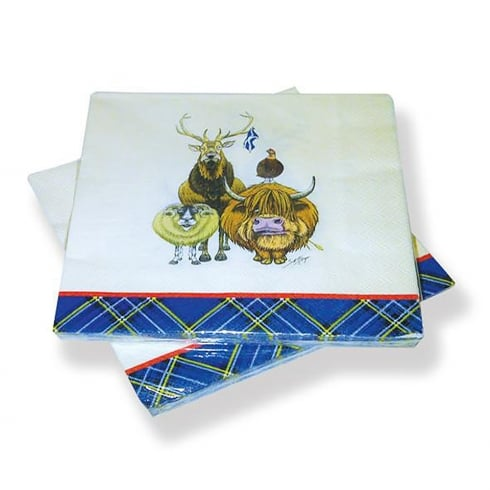 D & C Welcome To Scotland Paper Napkins
