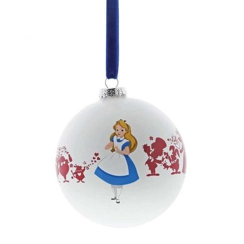 Disney Enchanting Collection Were All Mad Here Alice Bauble