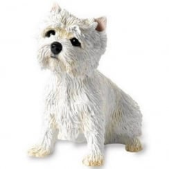 West Highland Terrier Sitting Westie Figurine