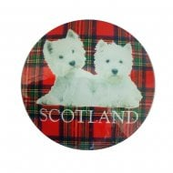 Westie Glass Magnet