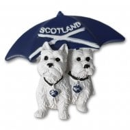 Westies & Saltire Umbrella Resin Magnet