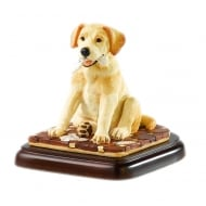 What News Yellow Labrador Figurine