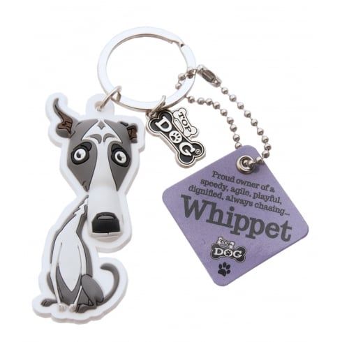 Wags /& Whiskers Whippet Dog Keyring New 00204000041