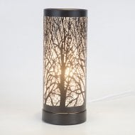 White-Black Leaf Pattern Aroma Lamp