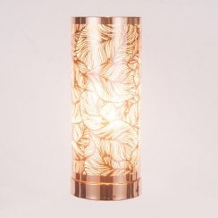 White-Rose Gold Leaf Pattern Aroma Lamp