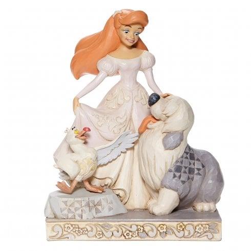 Disney Traditions White Woodland Ariel Figurine - Spirited Siren