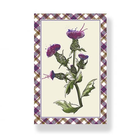 D & C Wild Thistle Tea Towel