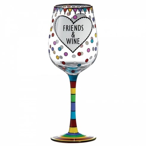 Our Name Is Mud Wine & Friends Wine Glass