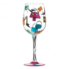 Wine Shopaholic Too Wine Glass