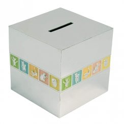 Winnie The Pooh Silver Plated Cube Money Bank
