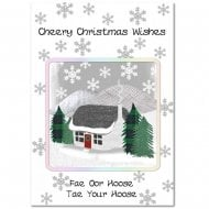 Winter Cottage Christmas Card